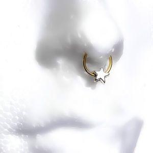 Star Beaded Septum Seamless Ring Hoop